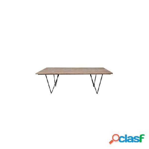 Mesa comedor natural madera 200 x 90 75