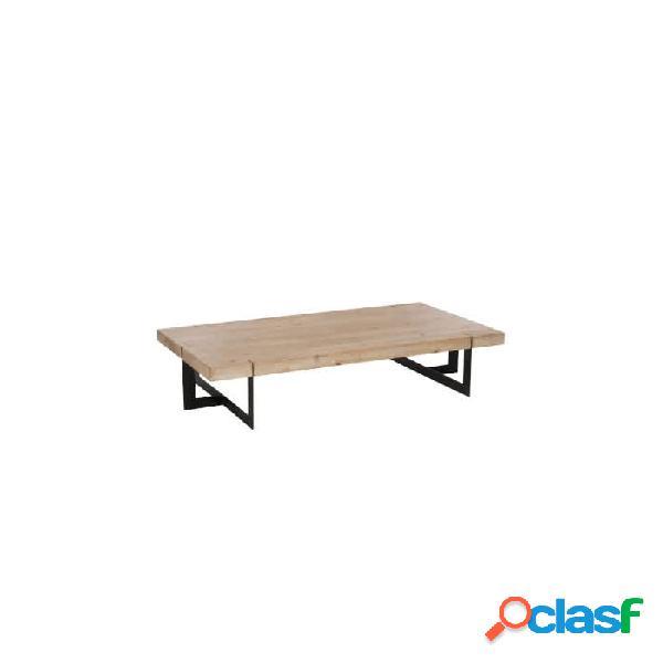 Mesa auxiliar marron negro madera 150 x 80 35