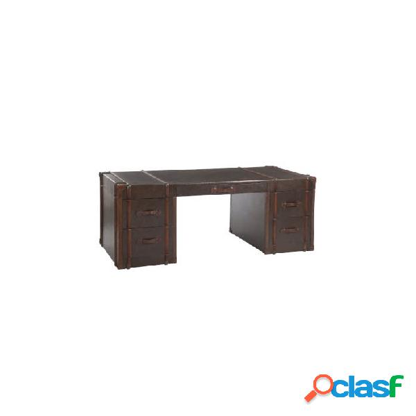 Mesa despacho marr n marron madera 182 x 82 80