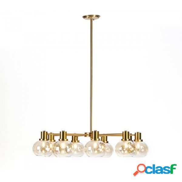 Lámpara techo cristal dorado y metal 86x86x72