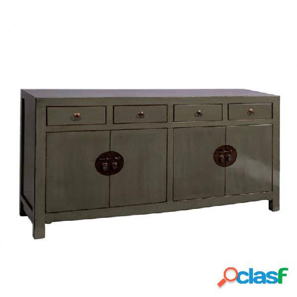 Aparador gris madera y olmo industrial 151x38x88