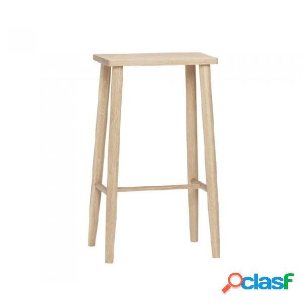 Taburete natural madera nordico 35x25xh72