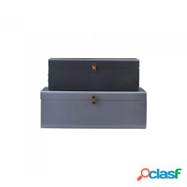 Caja gris metal nordico