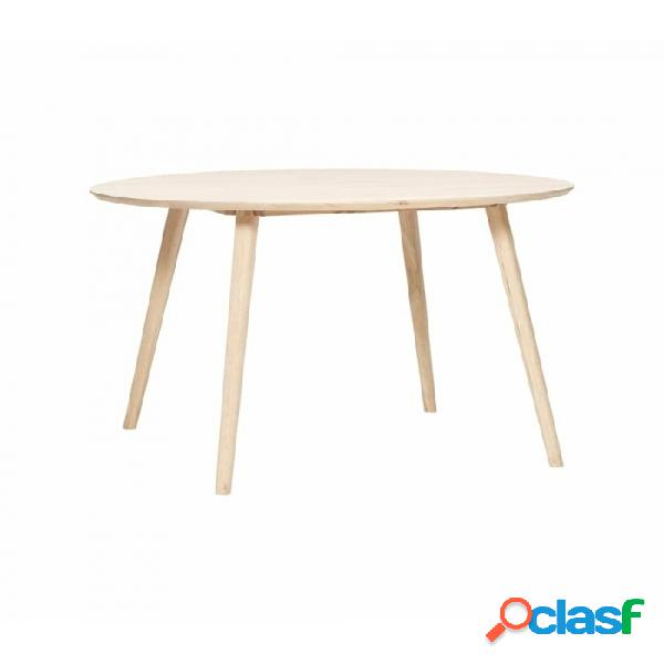 Mesa de comedor natural madera nordico d115xh75