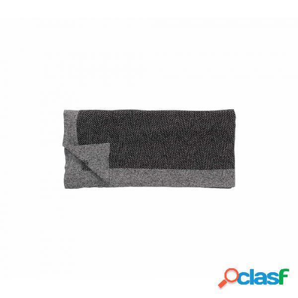 Manta negro gris nordico 130x200