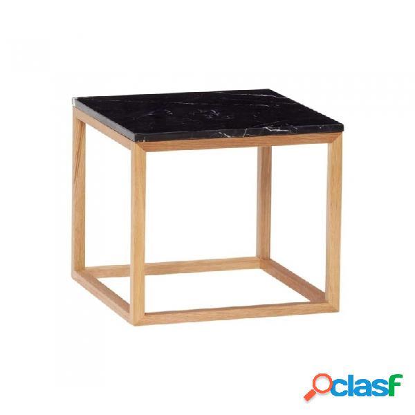 Mesa auxiliar negro madera escandinavo 40x40xh40