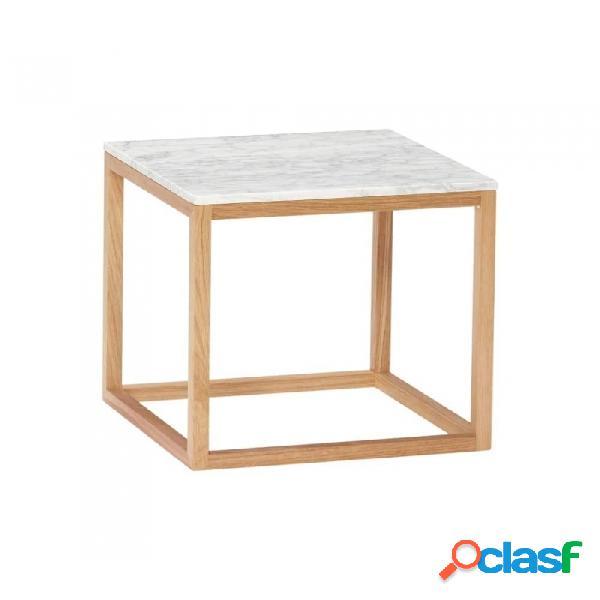 Mesa auxiliar blanco madera escandinavo 40x40xh40