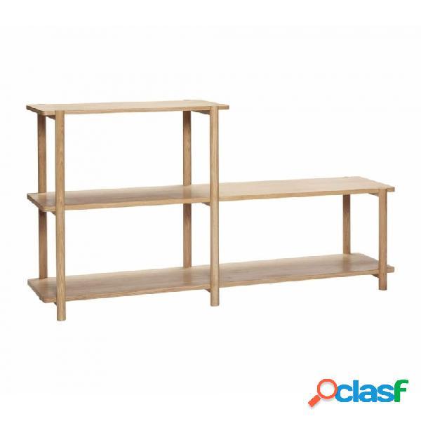 Estantería natural roble y madera nordico 150x38xh91