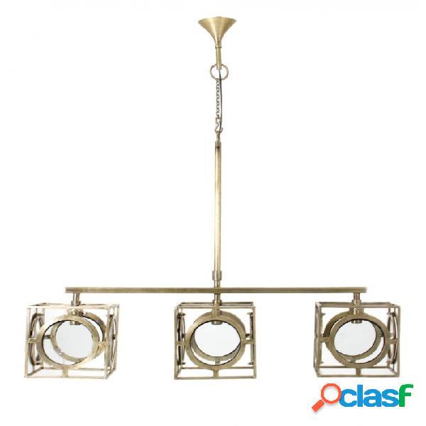 Lámpara techo oro laton y vidrio clasico 137 x 30 100