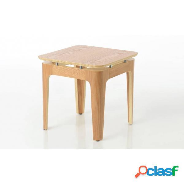 Mesa auxiliar natural madera nordico 40 x 45