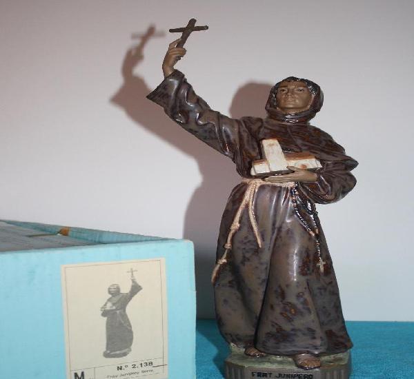 Figura porcelana lladro de friar junipero serra - dificil