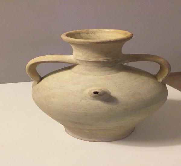 Antiguo cántaro-botijo de alcora. pieza difícil.