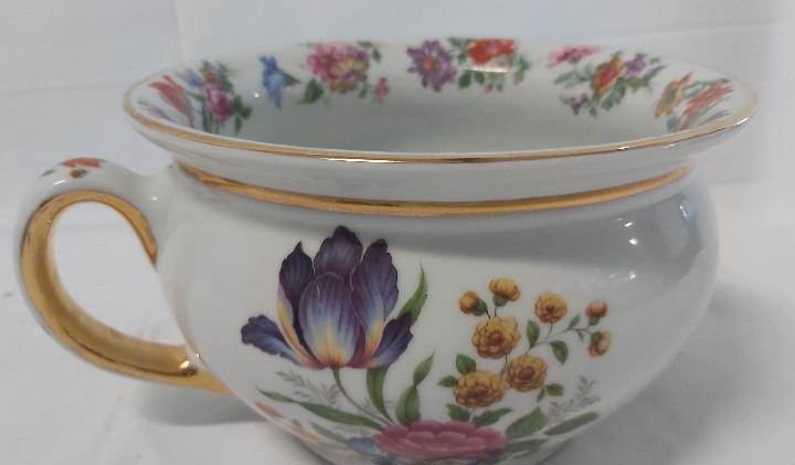 Bacinilla ceramica motivos florales - vintage