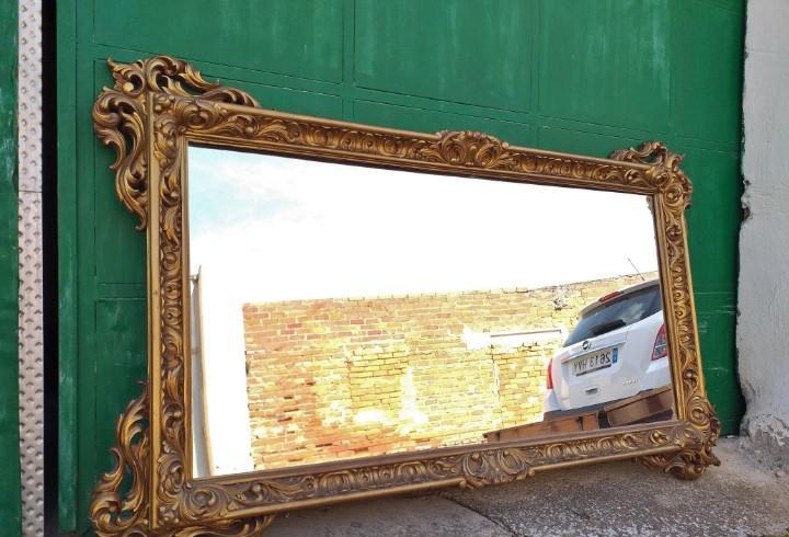 Espejo dorado estilo barroco 184 cm. espejo de gran tamaño