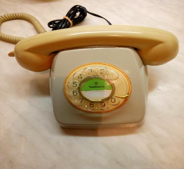Telefono heraldo de mesa. telefonica. años 70. funcionando.