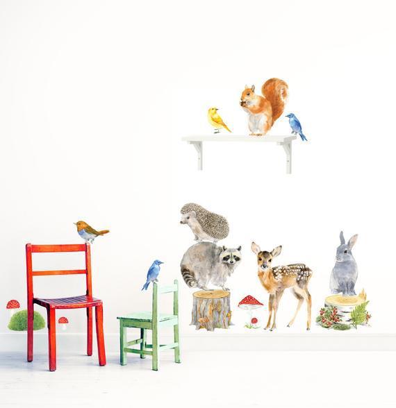 Animales del bosque, juego de animales del bosque, arte del