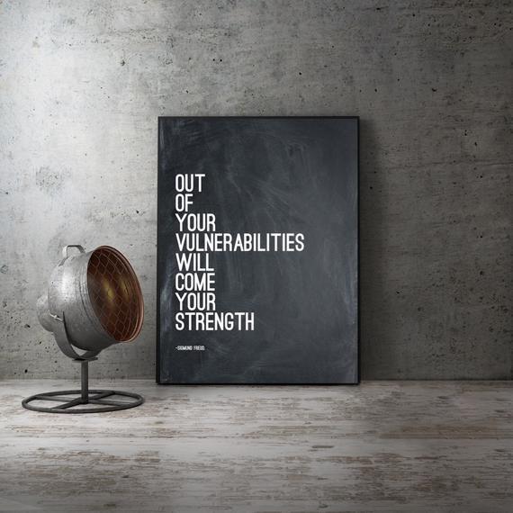 Cita de sigmund freud, de nuestras vulnerabilidades, arte