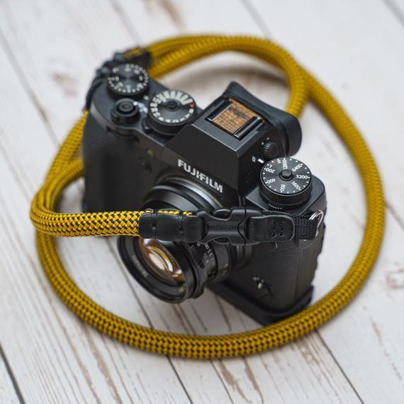 Handmade amarillo negro 10mm de liberación rápida hebilla