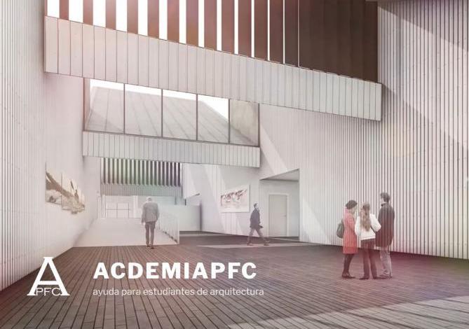 Academia arquitectura-renders-tfg-tfm a coruña