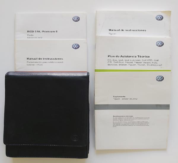 Manual vw volkswagen tiguan 2012. manual de mantenimiento e