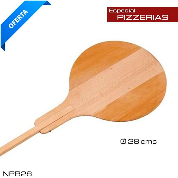Pala de pizzas madera 33 cm diámetro