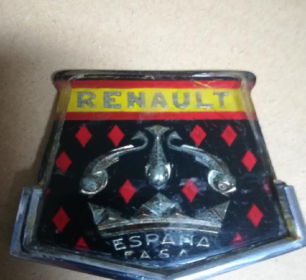 Renault dauphine/gordini. emblema delantero.