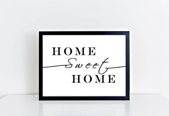 Hogar dulce hogar - impresión de tipografía, impresión