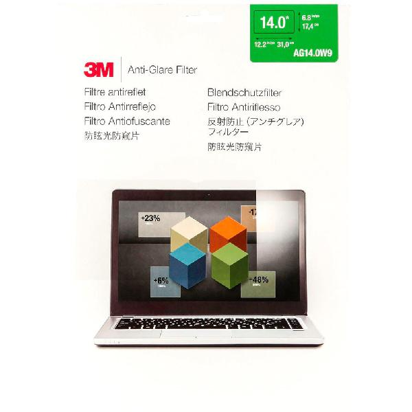 3m ag140w9 anti-glare filter widescreen laptops 14´´