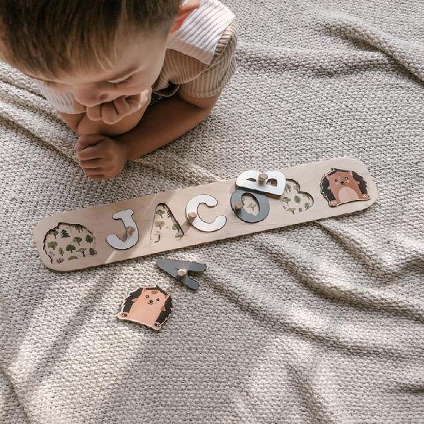 Nombre rompecabezas para niños pequeños juguetes bebé