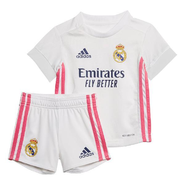 Adidas real madrid primera equipación mini kit 20/21