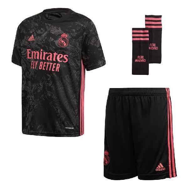 Adidas real madrid tercera equipación kit júnior 20/21