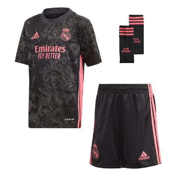 Adidas real madrid tercera equipación mini kit 20/21