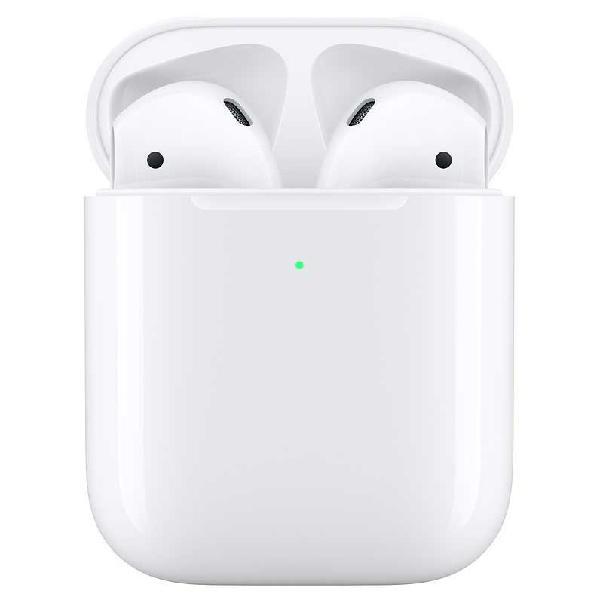 Apple airpods 2 con estuche de carga inalámbrica
