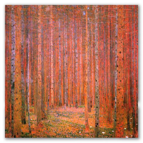 Bosque de pinos, klimt