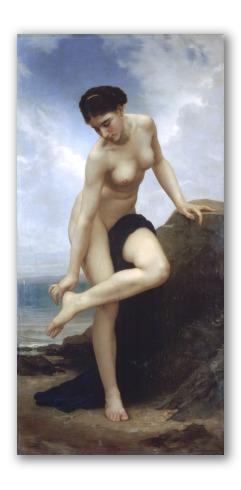 Después del baño (1875), bouguereau