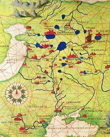 Detail from europe and central asia, from an atlas of the