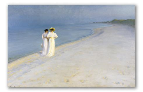 Tarde de verano en la playa de skagen, p. s. krøyer