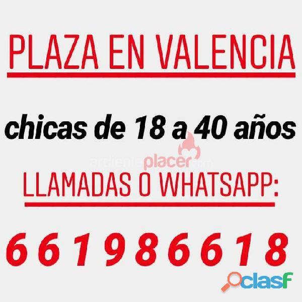 Plaza para chicas en Valencia.