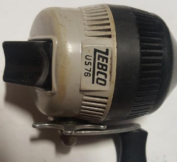 Carrete de pescar antiguo zebco us 76de bobina cerrada