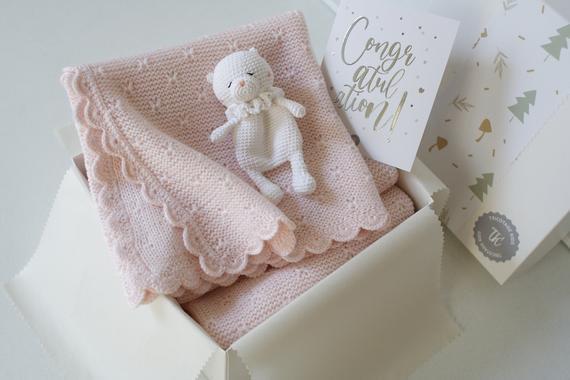 Annonce grossesse, new mummy gift, babydecke mit namen,