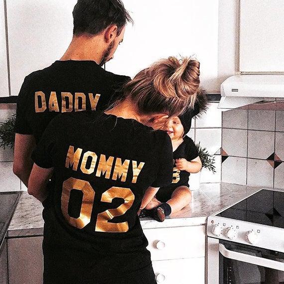 Camisas familiares, camisetas familiares, camisetas de la
