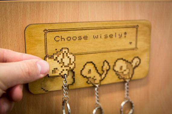 Elige sabiamente! inspirado lasercut & llavero grabado y