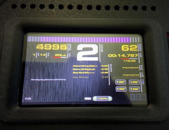 Sim racing cr-4 pc dashboard con pantalla táctil de 4