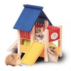 Zona de juego parque para roedores