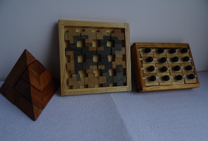 10 - lote de 3 juegos de ingenio - rompecabezas o puzzles de