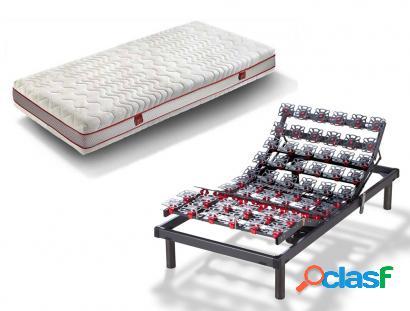 Pack hukla colchón hukla visco plus + somier hukla grafeno - 90x190