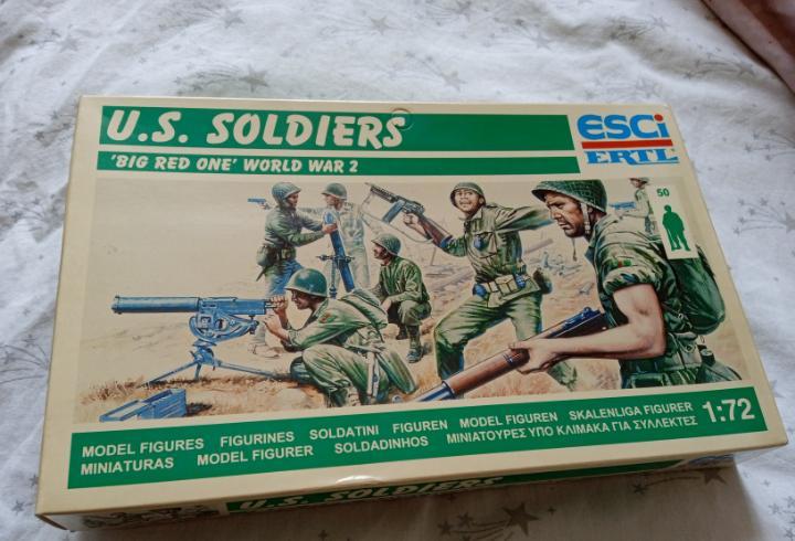 Caja soldados americanos usa esci 1/72 big red one segunda