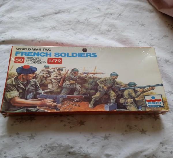 Caja soldados franceses esci 1/72 segunda guerra mundial