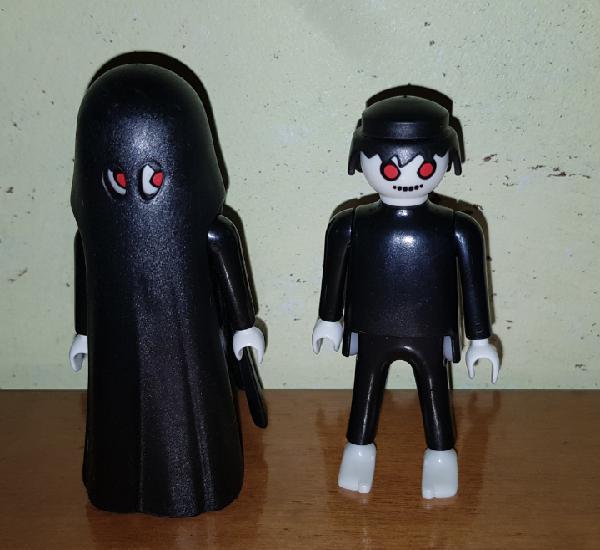 Playmobil lote capa fantasma +muñeco zombi negro (sólo un