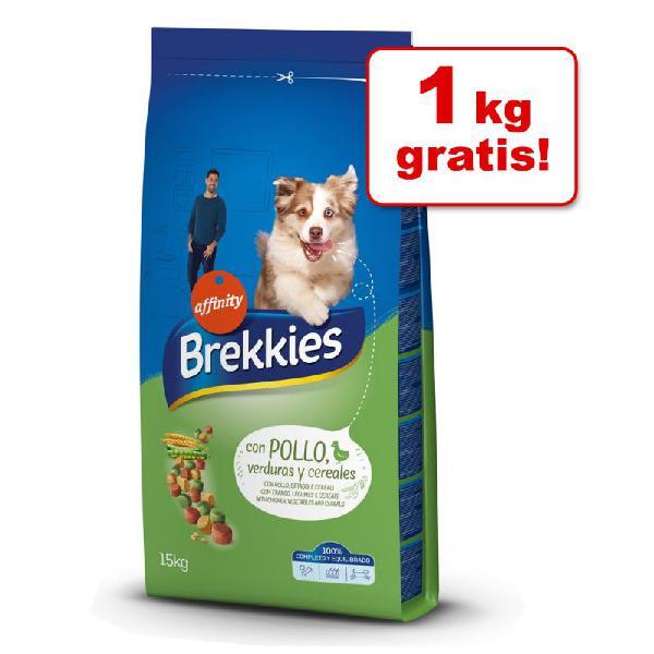 Brekkies 14 / 15 kg pienso para perros en oferta: 1 kg